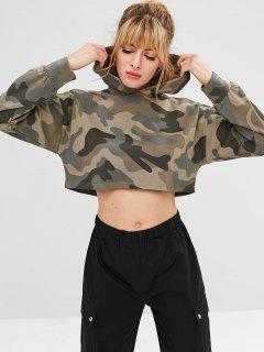 Camo Crop Sports Hoodie - Acu Camouflage L