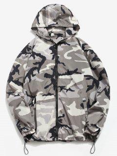 Camo Quick Dry Lightweight Jacket - Gray Xl