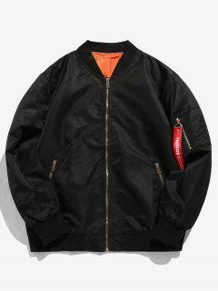 Full Zip Bomber Jacket - Black M