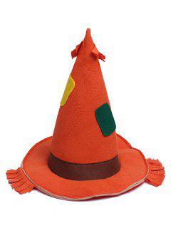 Halloween Theme Splice Witch Hat - Papaya Orange