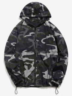 Camo Quick Dry Lightweight Jacket - Black Xl
