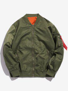 Full Zip Bomber Jacket - Army Green L
