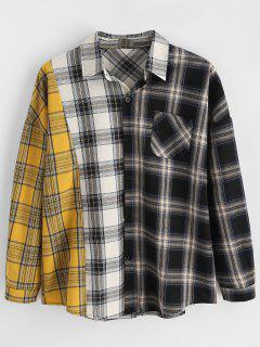 Color Block Checked Shirt - Multi-a 2xl