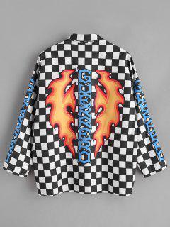 Chemise à Carreaux Graphique - Noir Xl