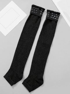 Solid Color Winter Leg Warmers - Black