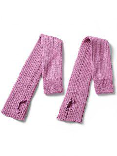 Winter Striped Knitted Leg Warmers - Pink Cupcake