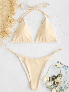 ZAFUL Halfter String Bikini Set - Cornsilch M