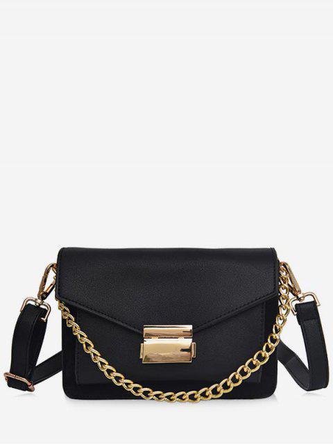 Bolso bandolera sólido de cadena minimalista - Negro  Mobile