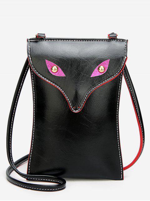 Bolso bandolera Mini Wolf Pattern - Negro  Mobile