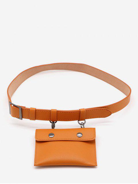 outfits PU Leather Multi Function Waist Bag - SANDY BROWN  Mobile