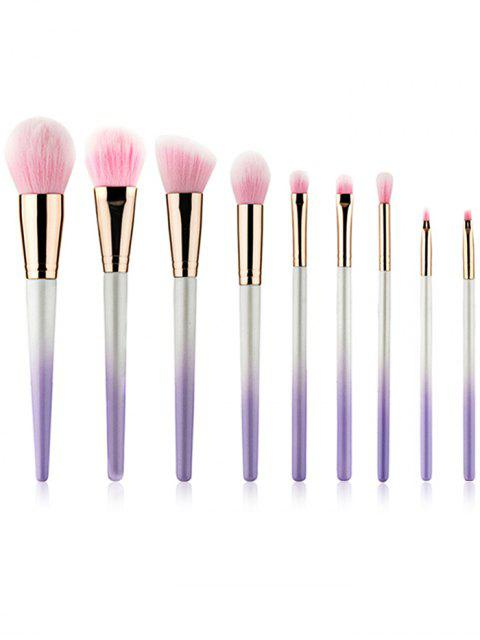 sale 9Pcs Ultra Soft Fiber Hair Travel Cosmetic Brush Set - WISTERIA PURPLE  Mobile