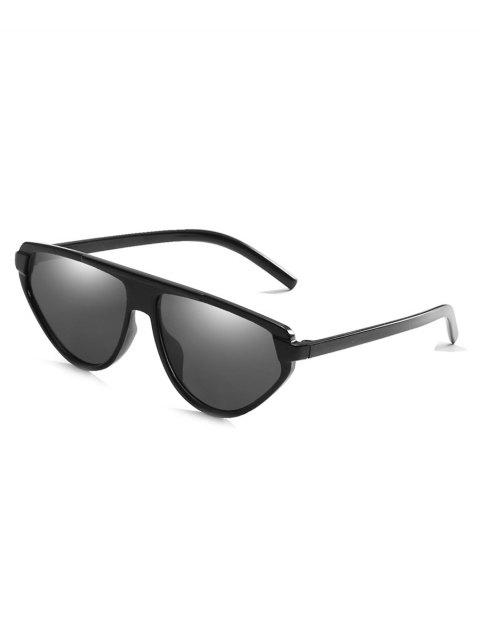 online Lightweight Full Frame Flat Lens Catty Sunglasses - BLACK  Mobile