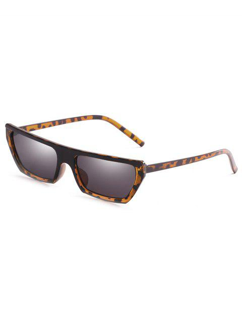 outfits Anti Fatigue Rectangle Flat Leans Sunglasses - LEOPARD  Mobile