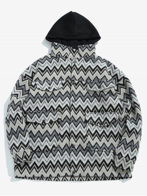 new Wave Pattern Pocket Jacket - BLACK L Mobile