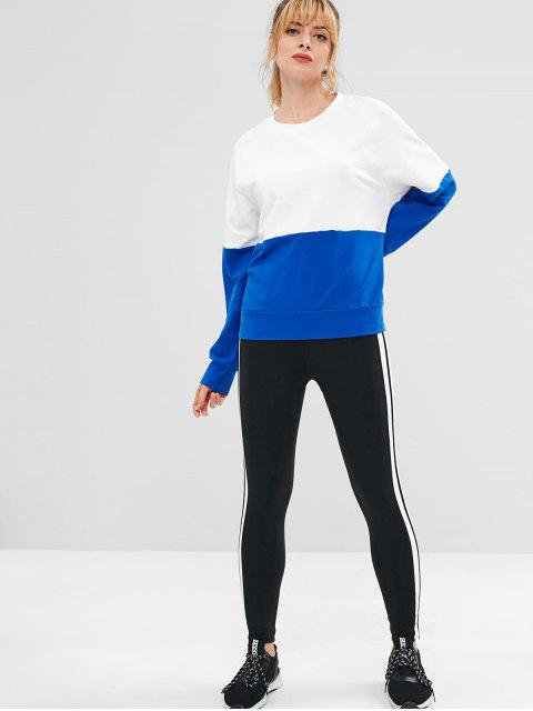 ZAFUL Raglanärmel Color Block Sweatshirt - Weiß M Mobile