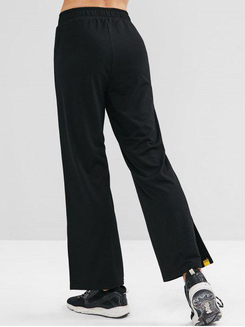 ZAFUL Contraste Pantalones deportivos laterales - Negro M Mobile