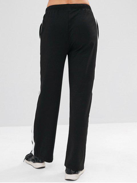 ZAFUL Contrast Drawsting Athletic Sweatpants - Negro M Mobile