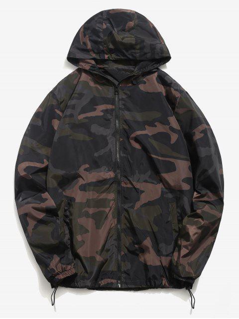 trendy Camo Quick Dry Lightweight Jacket - HAZEL GREEN XS Mobile