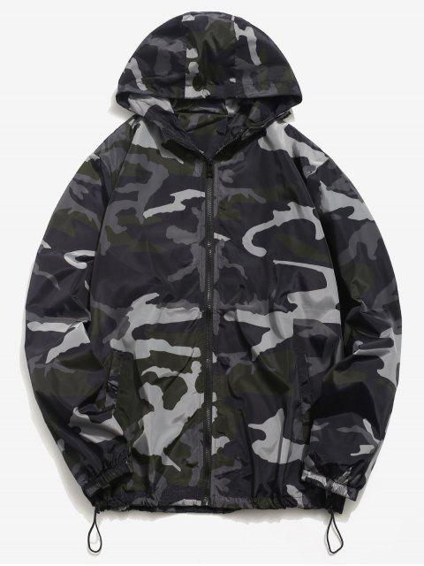 fashion Camo Quick Dry Lightweight Jacket - BLACK S Mobile