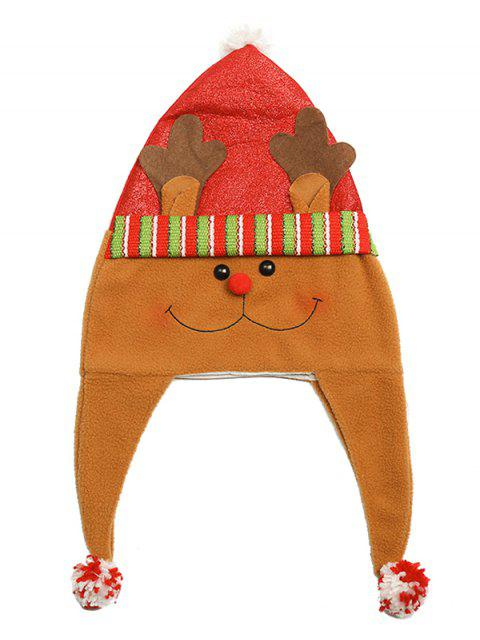 ladies Christmas Theme Cartoon Elk Party Hat - MULTI  Mobile