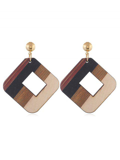 Aushöhlen aus Holz Elegante Ohrringe - Multi  Mobile