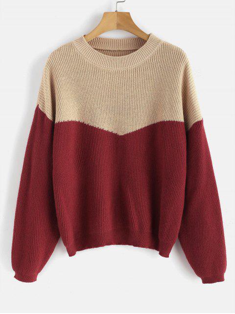 Zweifarbiger Pullover aus Metallic-Fäden - Multi Eine Größe Mobile