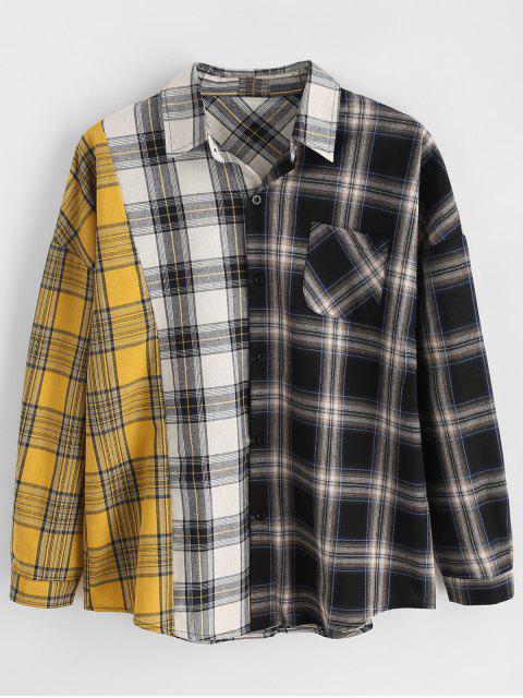 Chemise à Carreaux en Blocs de Couleurs - Multi-A XL Mobile