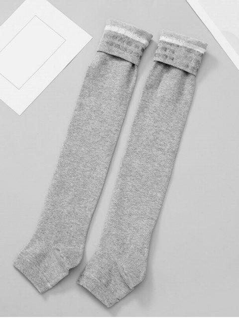 best Solid Color Winter Leg Warmers - DARK GRAY  Mobile