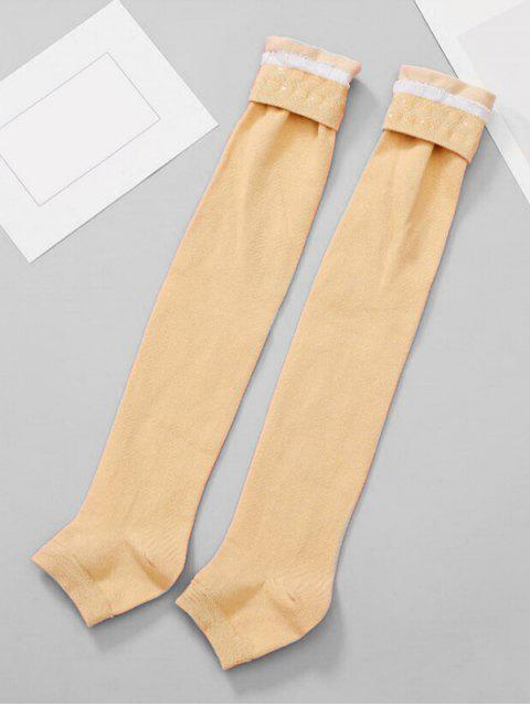 shops Solid Color Winter Leg Warmers - PEACH  Mobile
