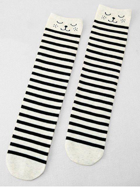 latest Cute Polka Dot Knitted Medium Stockings - MULTI-B  Mobile