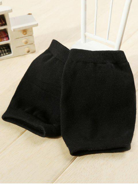outfit Winter Solid Color Knee Warmers - BLACK  Mobile