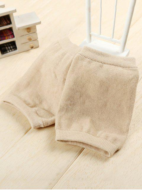 fashion Winter Solid Color Knee Warmers - TAN  Mobile
