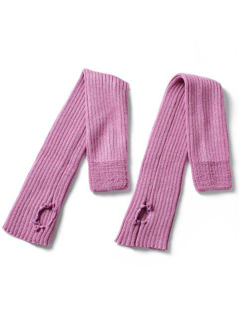 online Winter Striped Knitted Leg Warmers - PINK CUPCAKE  Mobile