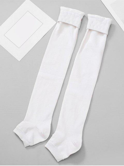 unique Solid Color Winter Leg Warmers - WHITE  Mobile