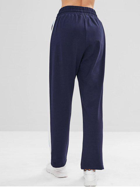 ZAFUL Pantalones con cordones laterales rayados - Cadetblue L Mobile