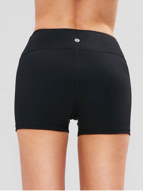 ZAFUL Skinny Shorts de bicicleta de deporte acanalada - Negro M Mobile