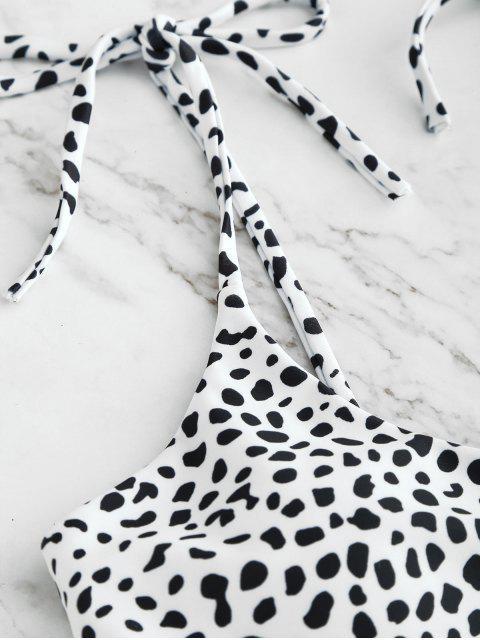 ZAFUL   Bedrucktes Krawatten-Bralette-Bikini-Set - Weiß M Mobile