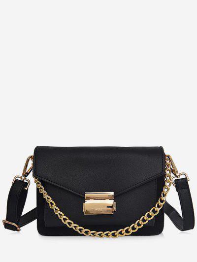 Minimalist Chain Solid Crossbody Bag - Black ...