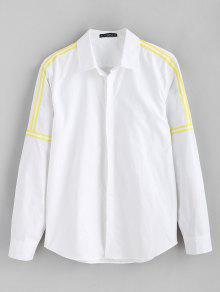 ZAFUL Ribbon مزين بلون القميص - أبيض M