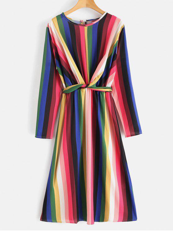 فستان ملون مخطط - متعدد S