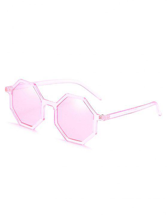 hot Irregular Lens Full Frame Sunglasses - PIG PINK