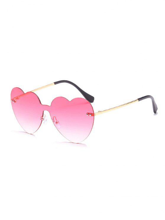 Gafas de sol sin marco Vintage Heart Lens - Rosa
