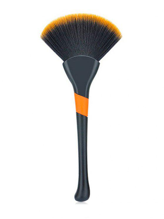 outfit Multifunctional Cosmetic Ultra Soft Fiber Hair Fan Brush - BLACK