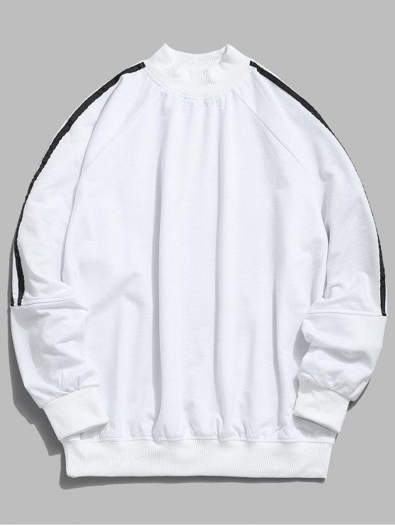 Raglan-Hülsen-Streifen-Sweatshirt - Weiß XL