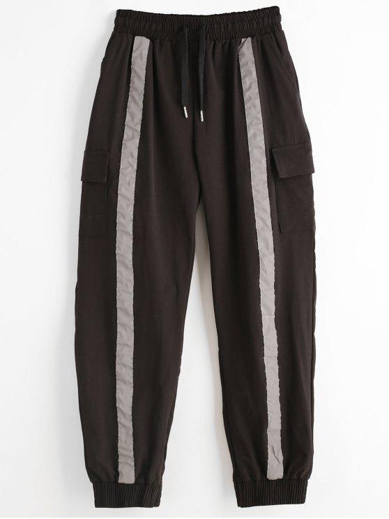 Pantaloni Da Jogging Con Coulisse E Tasca Laterale - Nero M