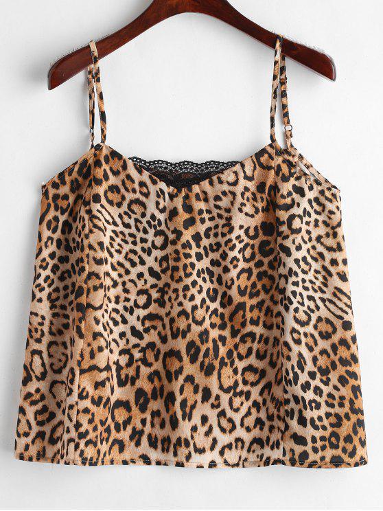 Canotta Stampata Leopardo Con Pannello In Pizzo - Leopardo L