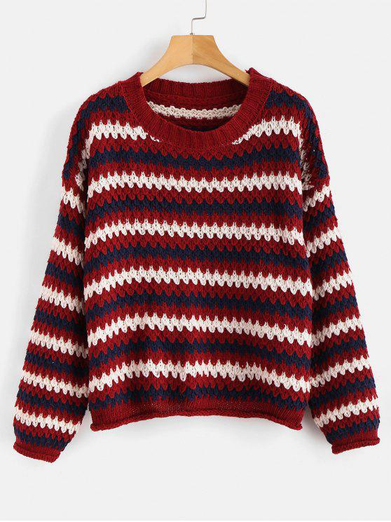 Pull en tricot à épaules dénudées - Multi Taille Unique