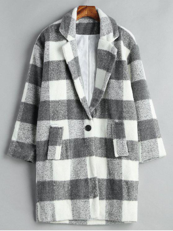 معطف من مزيج الصوف - متعدد M