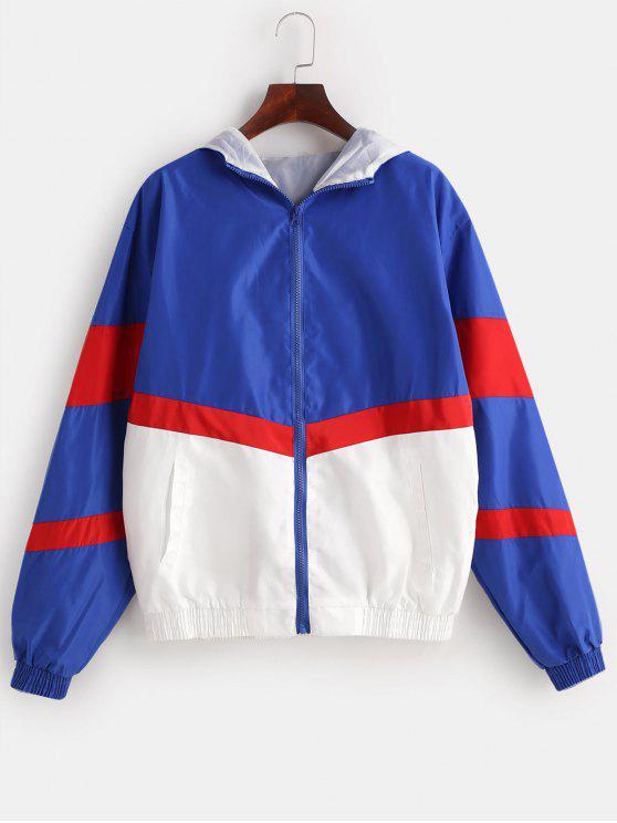 Zip Up Nduglence Graphic Windbreaker Jacket - Multicolor M