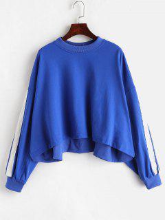 Side Stripe Oversized Sweatshirt - Blue